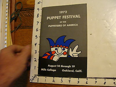 1972 Puppeteers of America Festival Program: OAKLAND, CA.; OVER 50 AUTOGRAPHS!