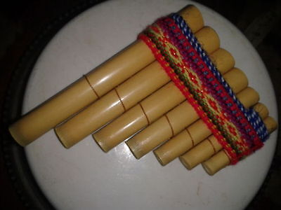 Mini Panpipe musical percussion instrument new peru woodwind