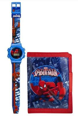 Official Childrens Spider-Man Wristwatch and Wallet Gift Set  - Marvel Comics