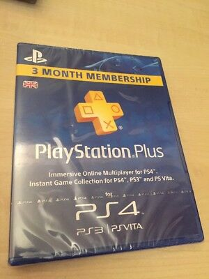 PlayStation Plus PS4 3 Month Month Membership