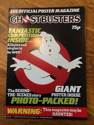 Vintage Official Ghost Busters Poster Magazine