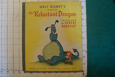 vintage WALT DISNEY'S story of The RELUCTANT DRAGON 1941 1st edition
