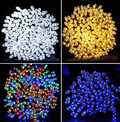 Solar Fairy String Lights 100/200/300/500 LED Outdoor Garden Christmas Decor