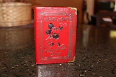 1930's Walt Disney Mickey Mouse Book Bank - Red, by Zell