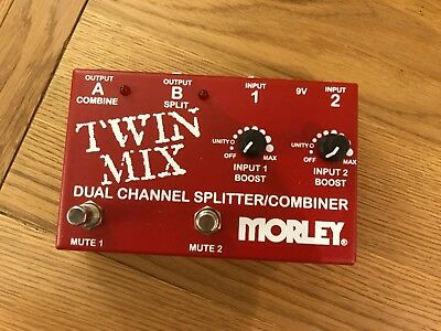 Morley Twin Mix ABY Switcher Splitter Combiner  Guitar Effects Pedal New
