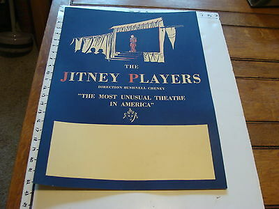 The JITNEY PLAYERS 1920's HARVARD  POSTER #2