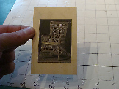 vintage orig. 1800's Wakefield RATTAN co CARD w Chair illustration on back #2