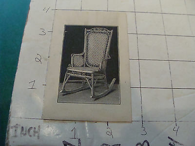 vintage orig. 1800's Wakefield RATTAN co CARD w Chair illustration on back #3