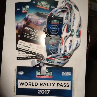 World Rally Passes For 2017 Wales Rally Gb