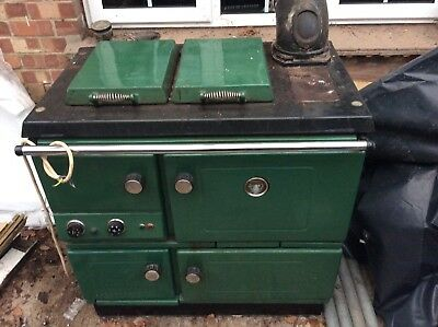 Waterford Stanley Range Cooker - GAS Green  Cooker and Heating Combined