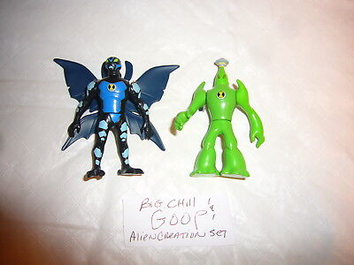 Ben 10 Alien Goop and Big Chill Creation Chamber Toy Action Figures