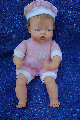 "Ideal 14"" Tiny Thumbelina Doll 1960's All Original Works!"