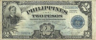 Philippines 2 Peso ... ND(1944) . ... P-95    VICTORY NOTE