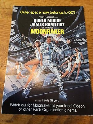 James Bond Moonraker Odeon Cinema Front Of House Leaflet