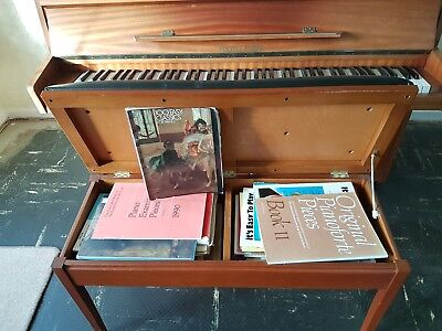 Upright Piano.  Fuchs And Mohr With Double Teaching Stool And Lots Of Music