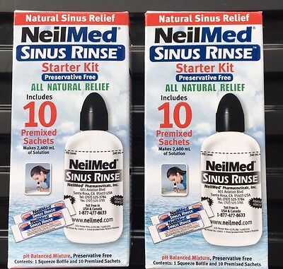 NeilMed Sinus Rinse Starter Kit with 10 natural relief Sachets Buy 1 Get 1 Free