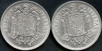 Spain 2 Of 1949 50 Pesetas Coins