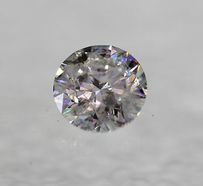 Certified 0.53 Carat F SI3 Round Brilliant Enhanced Natural Diamond 5.17mm 3EX