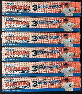 Lot of Eight (6) 2006 Topps Bazooka Baseball Hobby Boxes; Factory Sealed; NR!