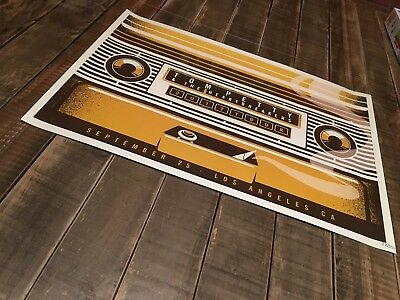 Tom Petty Heartbreakers Poster Hollywood Bowl Sept 25 2017