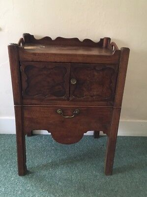 Antique George III Mahogany Tray Top  Bedside commode - In Need Of Restoration