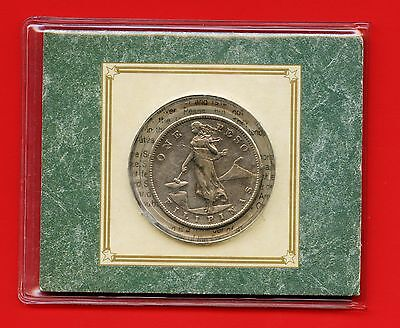Philippines 1908 'S' 1 Peso Silver Coin In Display (20 Grams .800 Silver )
