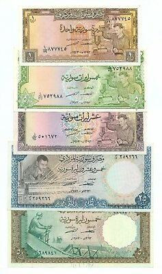 Syria  SET ( 1-5-10-25-50 Pounds ) 1973 XF
