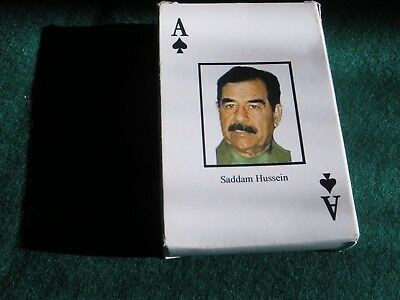 IRAQ''s MOST WANTED  PLAYING CARDS COMPLETE IN GOOD USED  COND