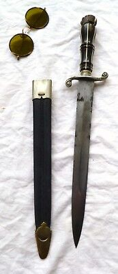 1800 ANTIQUE DAGGER EUROPEAN DIRK. GENTLEMAN'S FIGHTING BOWIE KNIFE no sword