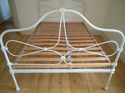 Beautiful original Antique Victorian heavy cast iron double bed