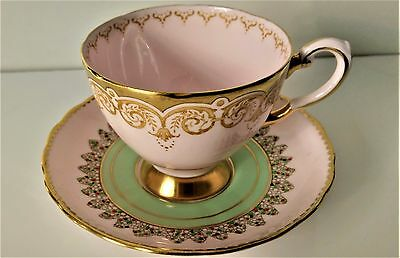 Vintage Tuscan Pink Tea Cup and Saucer English  Fine Bone China