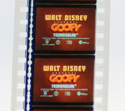35mm Film, Goofy Cartoon 'Lion Down' by Walt Disney Productions 1951.