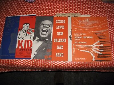 Job Lot Of Souvenir Jazz Programmes From The Late 1950's/ Early 1960's