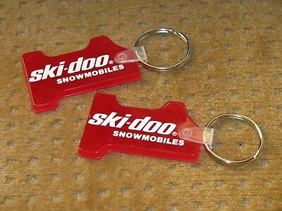 Lot of 2 SKI-DOO SNOWMOBILES Keychains Red