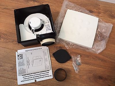 Vortice 12065 Quadro Micro 100 IT HCS Centrifugal Flush Extractor Fan Humidistat