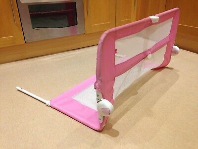 Pink bed guard rail by Mothercare working used condition