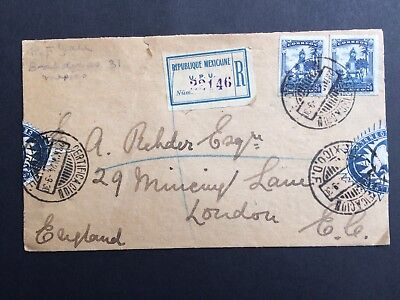 Mexico Stamp 23/Mar/1924 Register Cover To London
