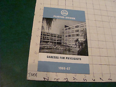 HIGH GRADE Vintage paper: 1966 ICI Plastics Division Careers for Physicists