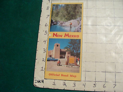 vintage HIGH GRADE travel MAP: NEW MEXICO 1950's ---UNOPENED---
