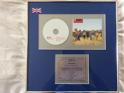 "S Club 7 ""s Club Party"" 200,000 Sales Presentation Disc Paul Cattermole1999"