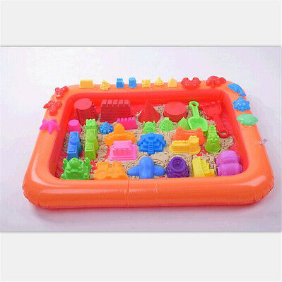 Inflatable Sand Tray Plastic Table Children Kids Indoor Playing Sand Clay Toy EV