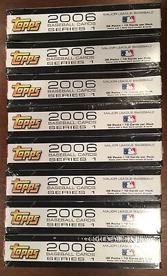 Lot of 8 2006 Topps Baseball Series 1 Hobby Boxes - Factory Sealed; No Reserve!