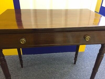 Antique wooden console table with drawer, ornate legs