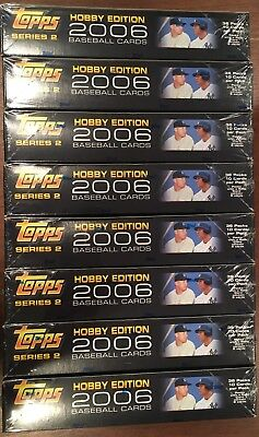 Lot of 8 2006 Topps Baseball Series 2 Hobby Boxes; Factory Sealed; No Reserve!