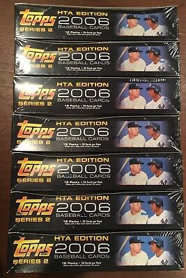 Lot of 7 2006 Topps Baseball Series 2 Retail Boxes; Factory Sealed; No Reserve!