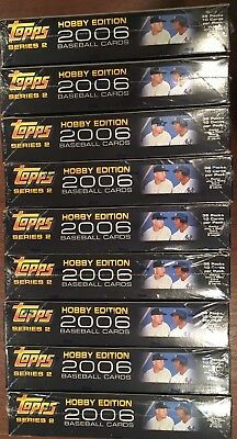Lot of 9 2006 Topps Baseball Series 2 Hobby Boxes; Factory Sealed; No Reserve!