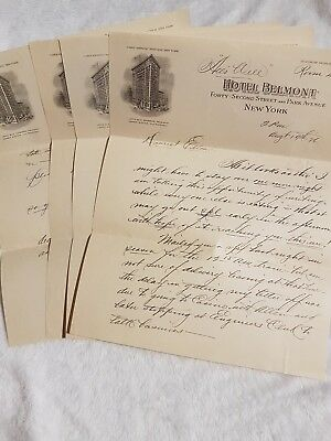 Multi page letter and envelope from Hotel Belmont New York City August 1926