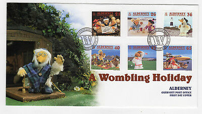 ALDERNEY 2000: A Wombling Holiday — Guernsey Post Office FDC, FDI SHS (Wombles)