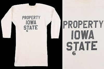 Vtg c.1950s Property Iowa State Football Jersey Shirt Top by Southland