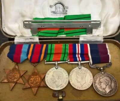 Wwii  Good Conduct Long Service 5 X British Medals 100% Genuine